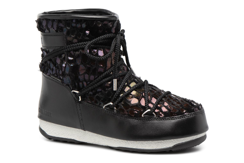 Chaussures de sport Moon Boot low mirror Noir vue détail/paire