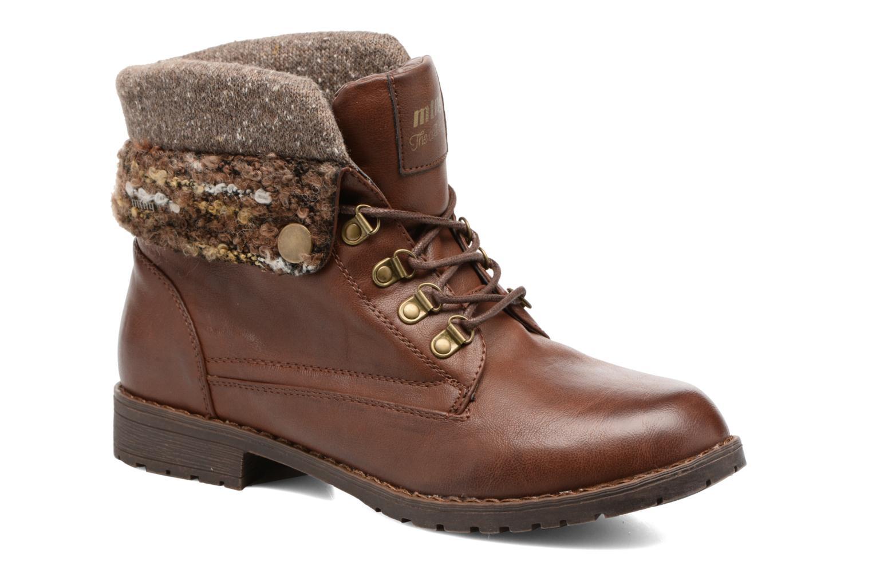 Bottines et boots MTNG Camillia Marron vue détail/paire