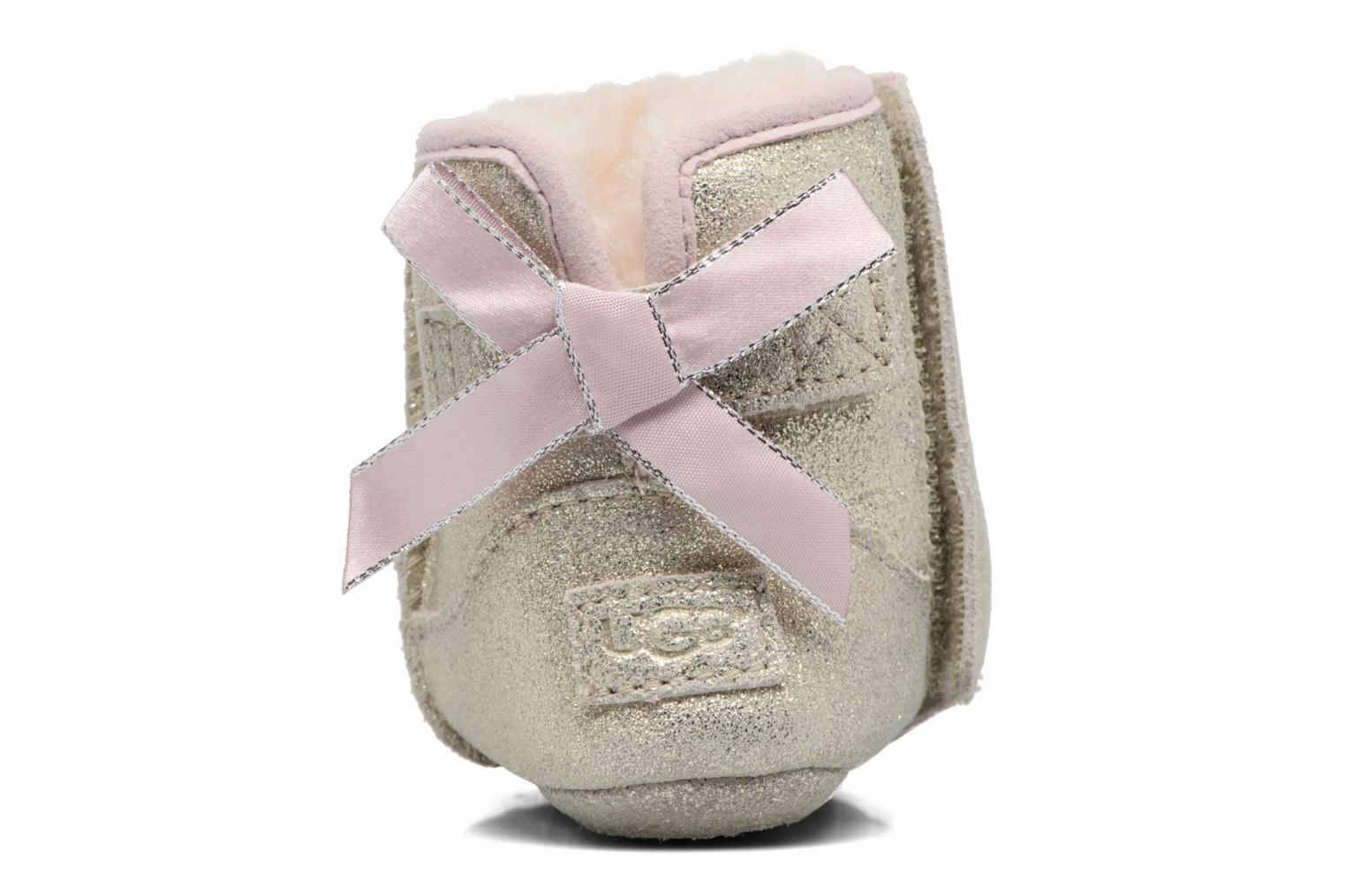 Chaussons UGG Jesse Bow II K Or et bronze vue droite