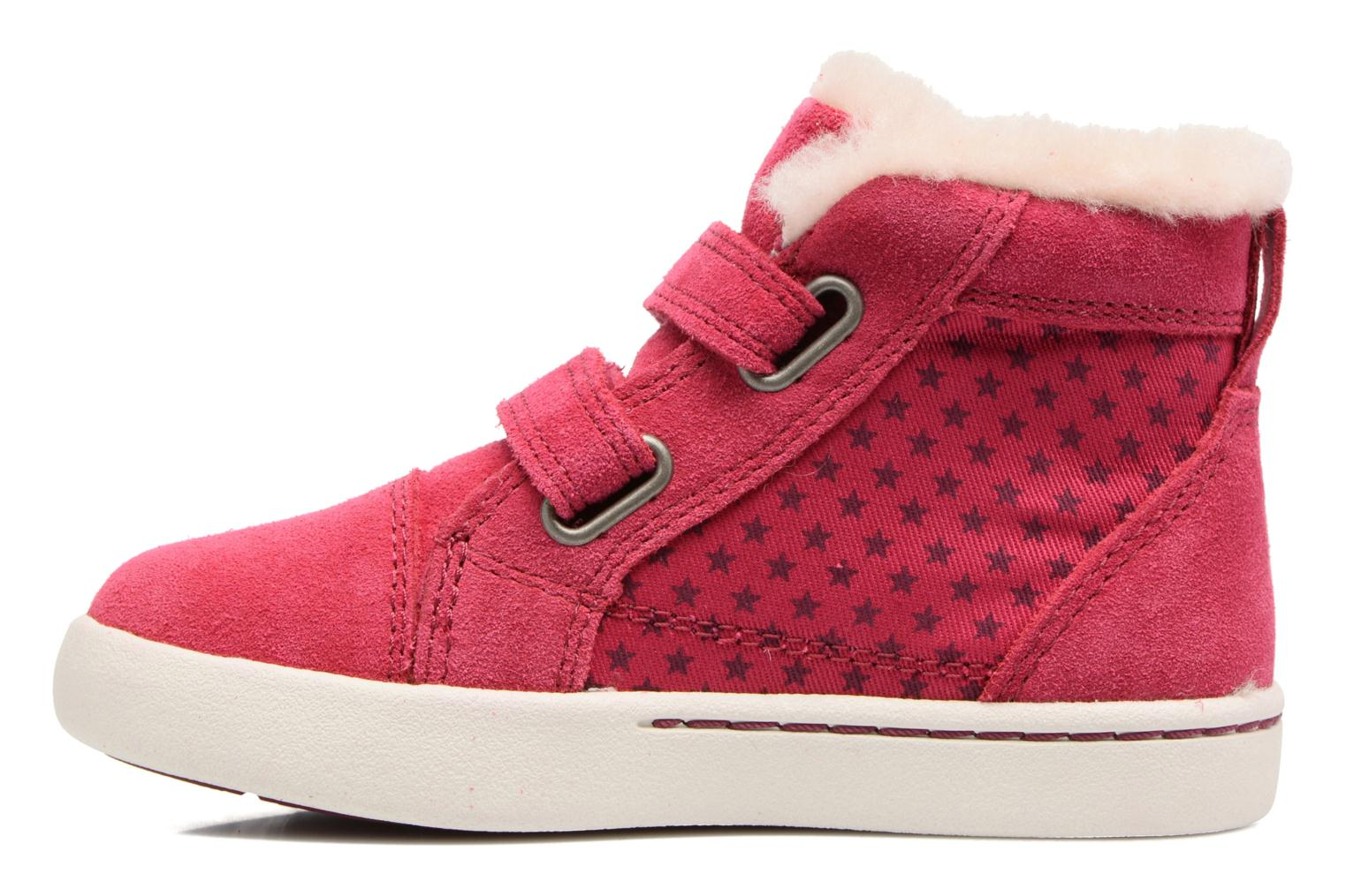 Baskets UGG Rennon Stars Rose vue face