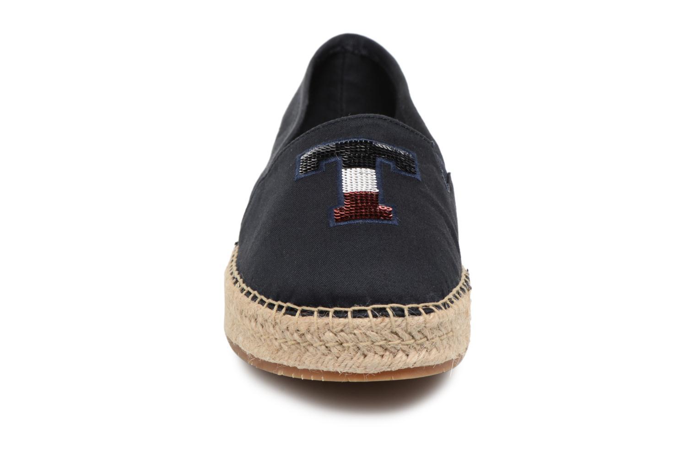 Espadrilles Tommy Hilfiger TH SEQUINS ESPADRILLE Bleu vue portées chaussures