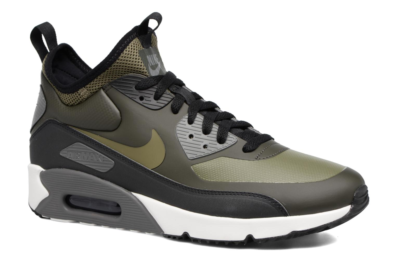 best website 60b1c b6bd5 Baskets Nike Air Max 90 Ultra Mid Winter Vert vue détail paire