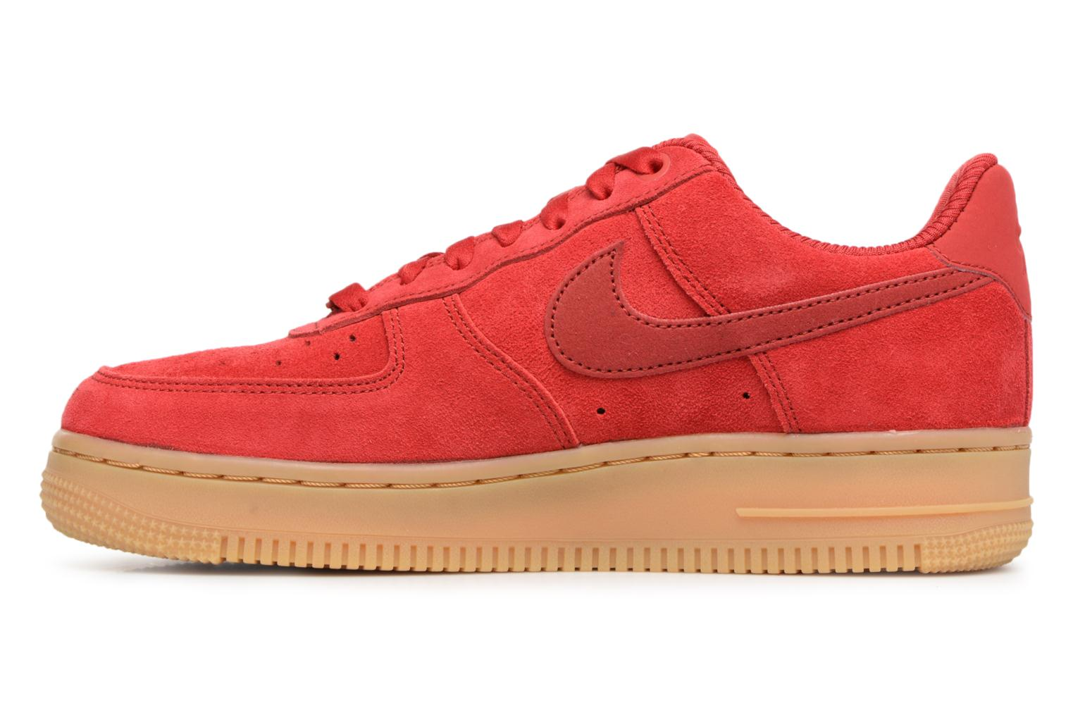 Baskets Nike Wmns Air Force 1 '07 Se Rouge vue face
