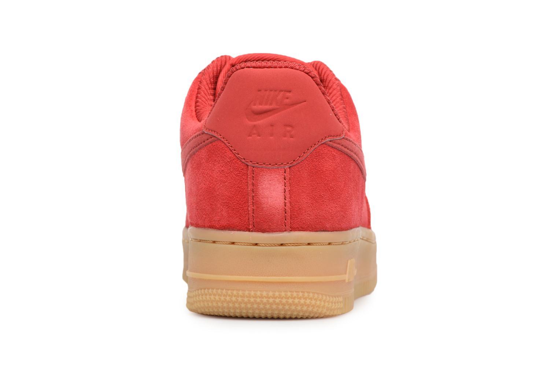 Baskets Nike Wmns Air Force 1 '07 Se Rouge vue droite