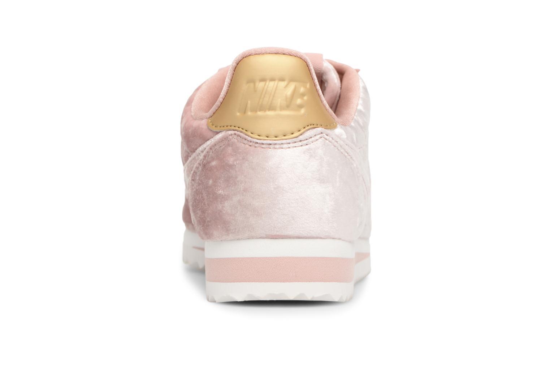 Baskets Nike Cortez Velvet Rose vue droite