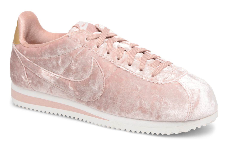 Baskets Nike Cortez Velvet Rose vue détail/paire