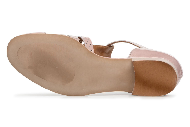 Sandales et nu-pieds Karston Jobano Rose vue haut