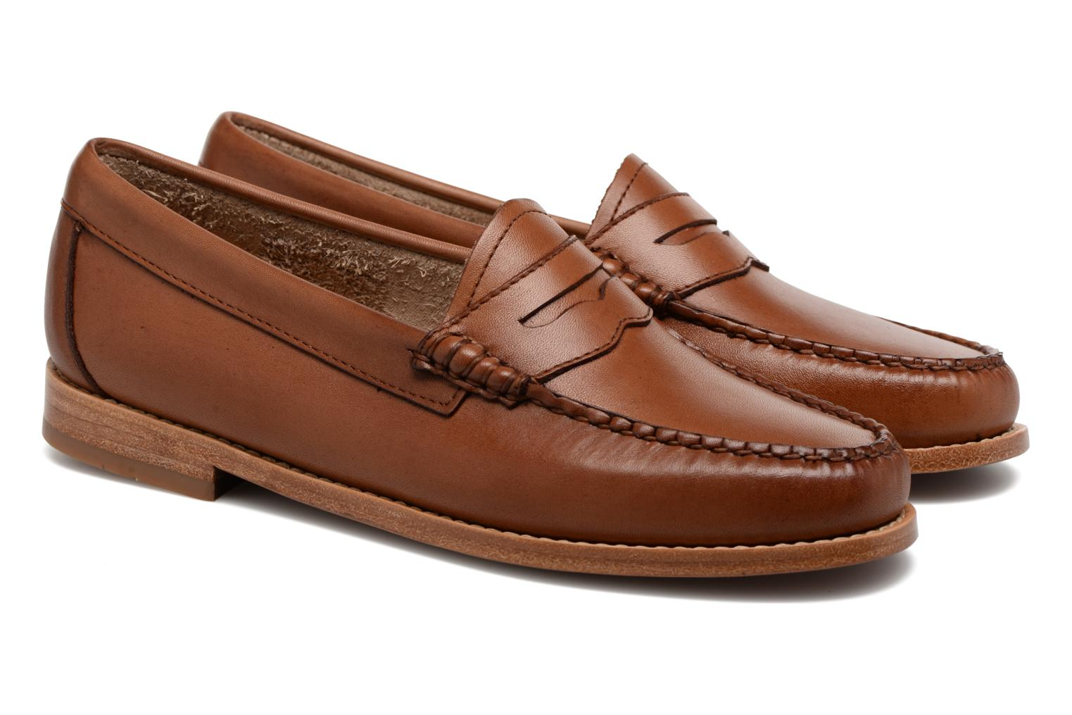 Loafers G.H. Bass WEEJUN WMN Penny Burnish Brown 3/4 view