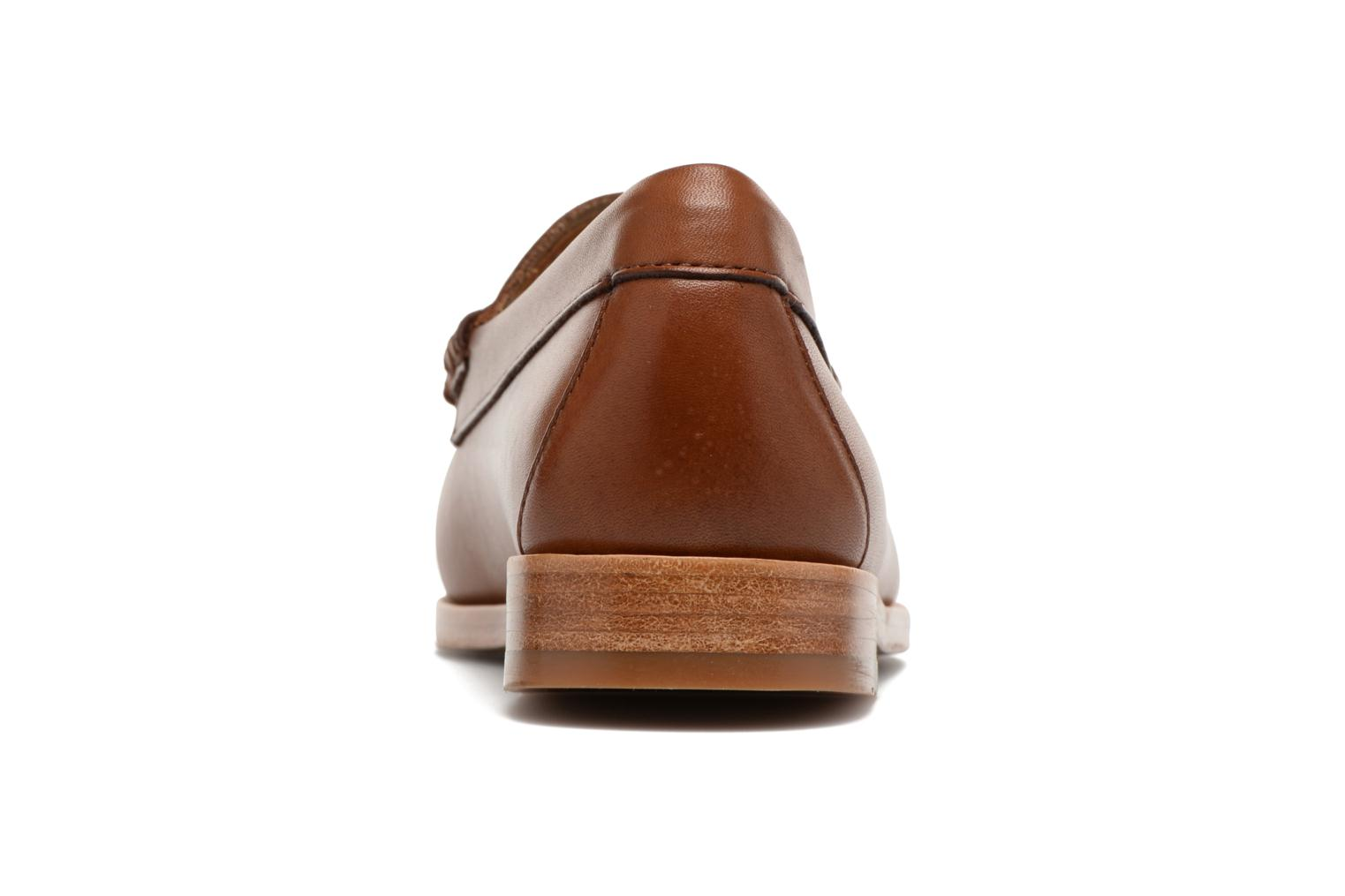 Loafers G.H. Bass WEEJUN WMN Penny Burnish Brown view from the right
