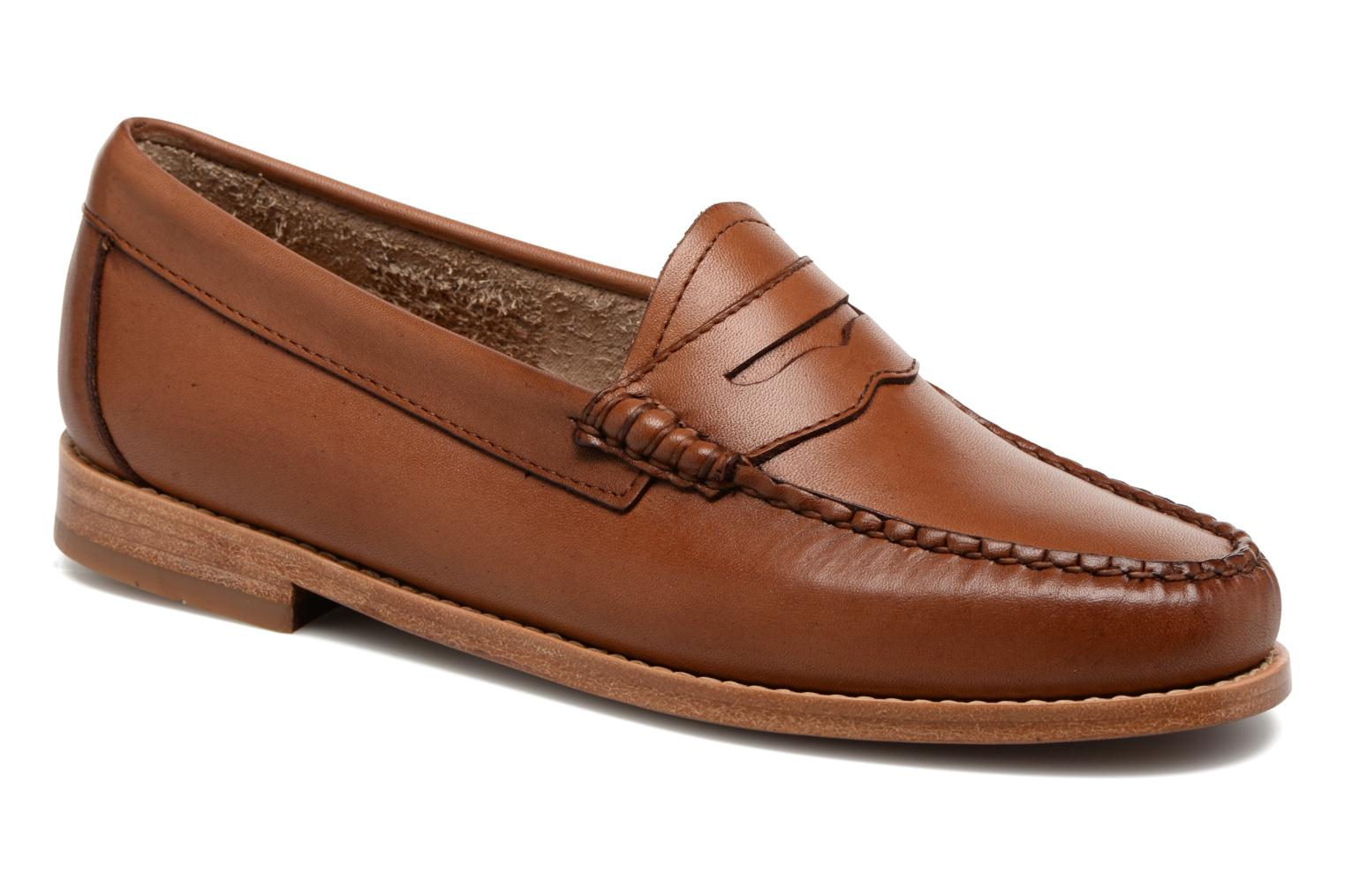 Loafers G.H. Bass WEEJUN WMN Penny Burnish Brown detailed view/ Pair view