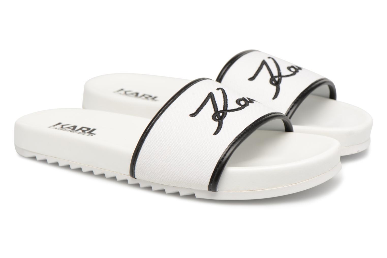 Mules & clogs Karl Lagerfeld KONDO Signature Drill White 3/4 view
