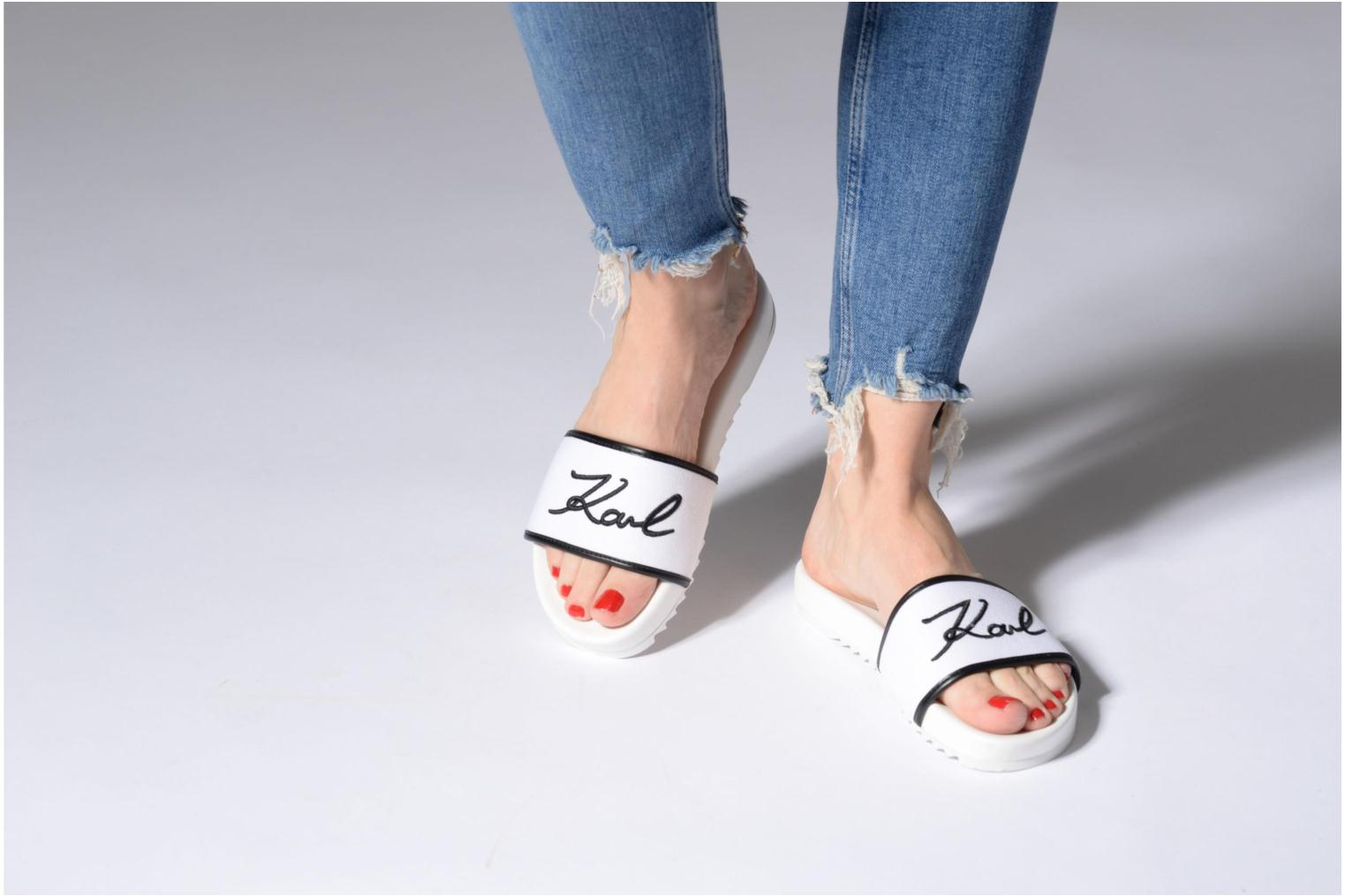 Mules & clogs Karl Lagerfeld KONDO Signature Drill White view from underneath / model view