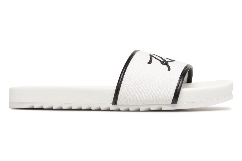 Mules & clogs Karl Lagerfeld KONDO Signature Drill White back view