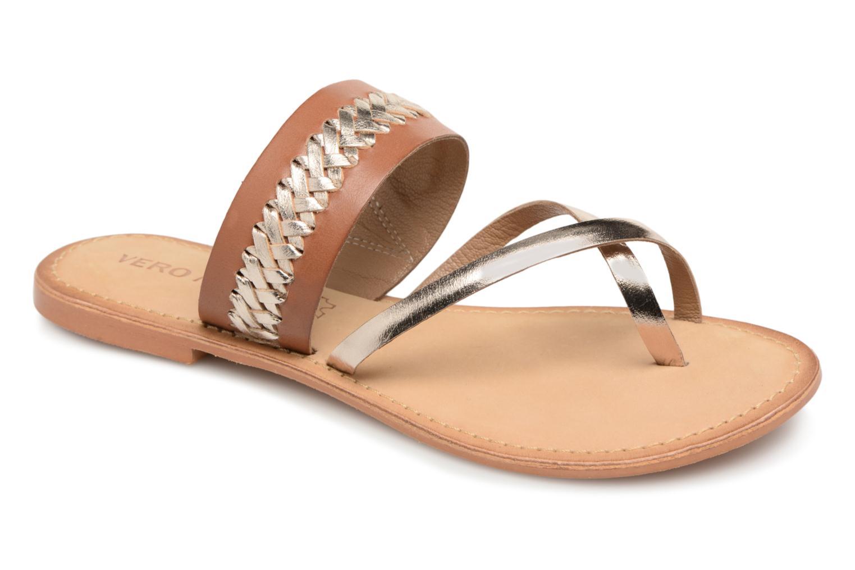 Vero Moda - Damen - Pinota Leather Sandal - Sandalen - braun SNto23w