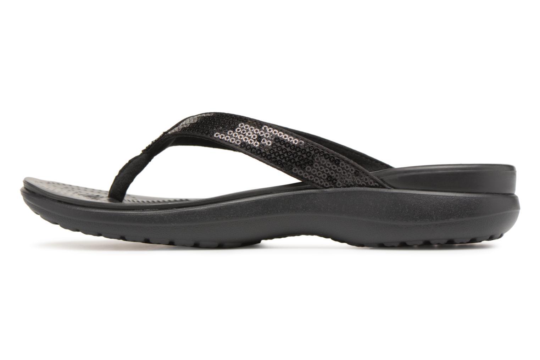 Tongs Crocs Capri V Sequin W Noir vue face