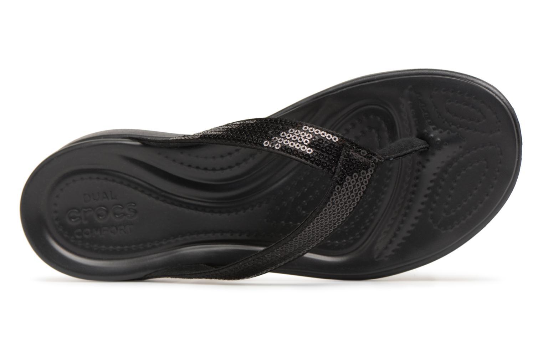 WnegroChanclas Capri Crocs Zapatos V Sequin Promocionales nO0PNwXZ8k