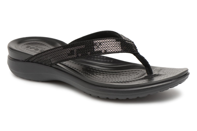 Crocs Capri V Sequin W (Noir) - Tongs chez Sarenza (312491)