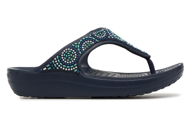 Sandales et nu-pieds Crocs Sloane Beaded Flip Bleu vue derrière