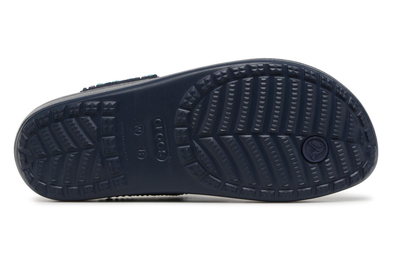 Sandales et nu-pieds Crocs Sloane Beaded Flip Bleu vue haut