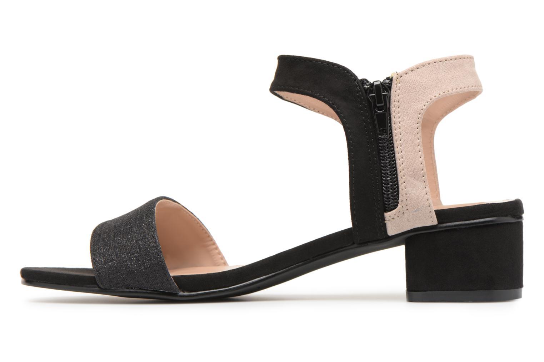 Sandales et nu-pieds Divine Factory Eksa Noir vue face