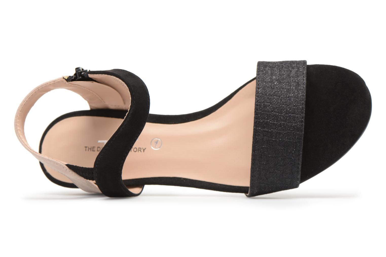 Sandales et nu-pieds Divine Factory Eksa Noir vue gauche