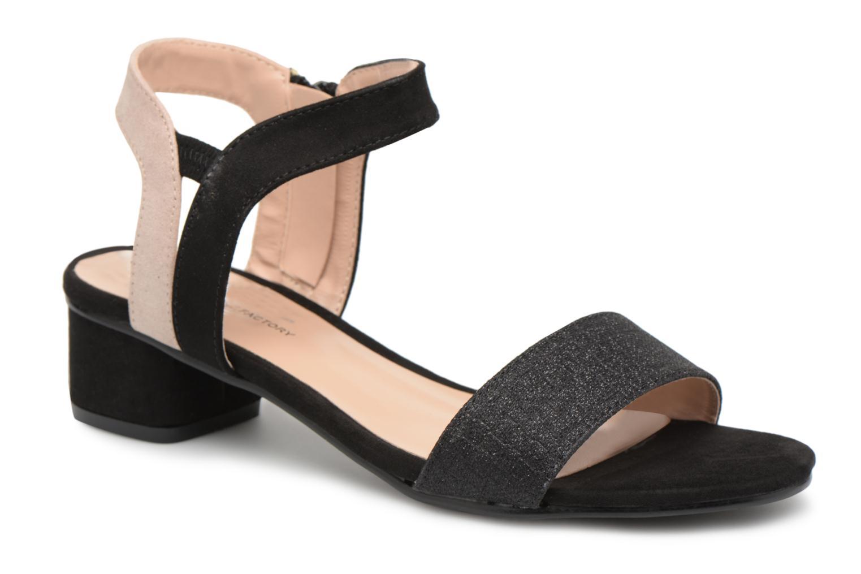 Sandales et nu-pieds Divine Factory Eksa Noir vue détail/paire