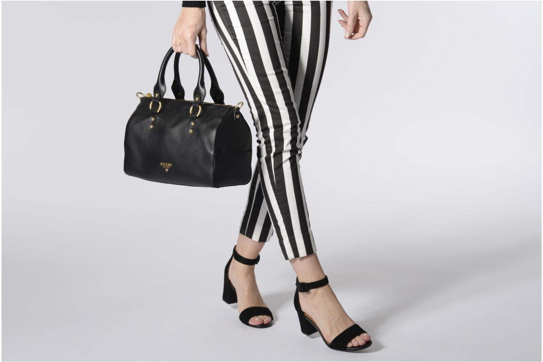Handtassen Guess Bonnie Box satchel Zwart boven
