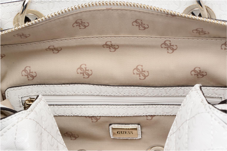 Handtassen Guess Seraphina Satchel Wit achterkant