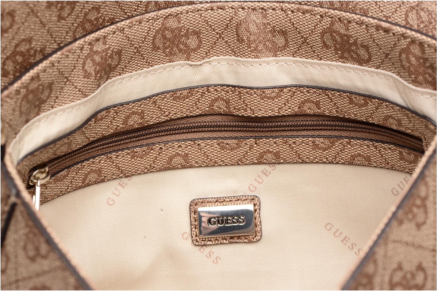 Borse Guess Joleen Crossbody Flap Marrone immagine posteriore