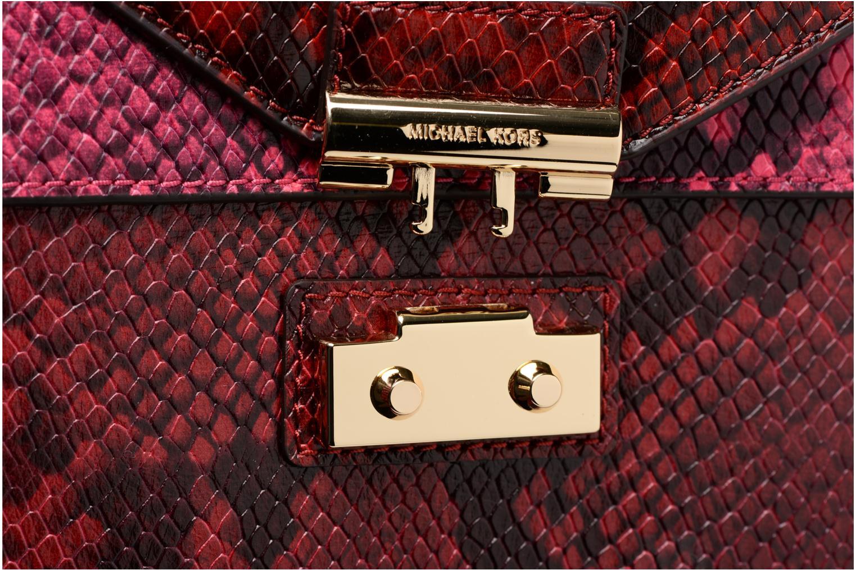 Bolsos de mano Michael Michael Kors SLOAN MD DOUBLE FLAP Rojo vista lateral izquierda