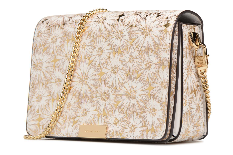 Bolsos de mano Michael Michael Kors Jade MD GUSSET CLUTCH Oro y bronce vista del modelo