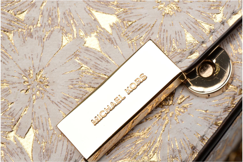 Bolsos de mano Michael Michael Kors Jade MD GUSSET CLUTCH Oro y bronce vista lateral izquierda
