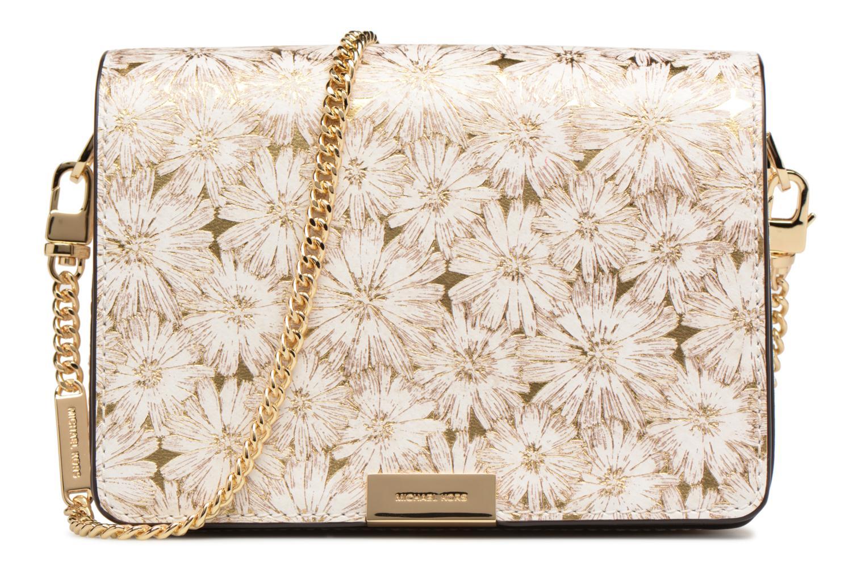 Bolsos de mano Michael Michael Kors Jade MD GUSSET CLUTCH Oro y bronce vista de detalle / par