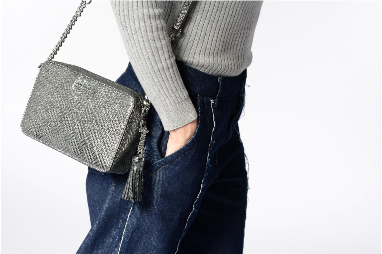 Bolsos de mano Michael Michael Kors Ginny MD Camera Bag Plateado vista de arriba