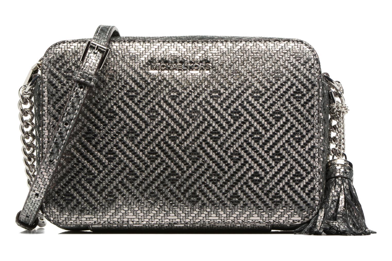Bolsos de mano Michael Michael Kors Ginny MD Camera Bag Plateado vista de detalle / par