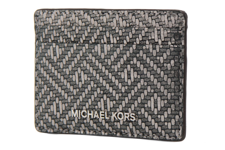 Marroquinería pequeña Michael Michael Kors Money Pieces Card Holder Plateado vista del modelo