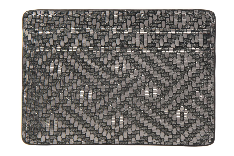 Marroquinería pequeña Michael Michael Kors Money Pieces Card Holder Plateado vista de frente