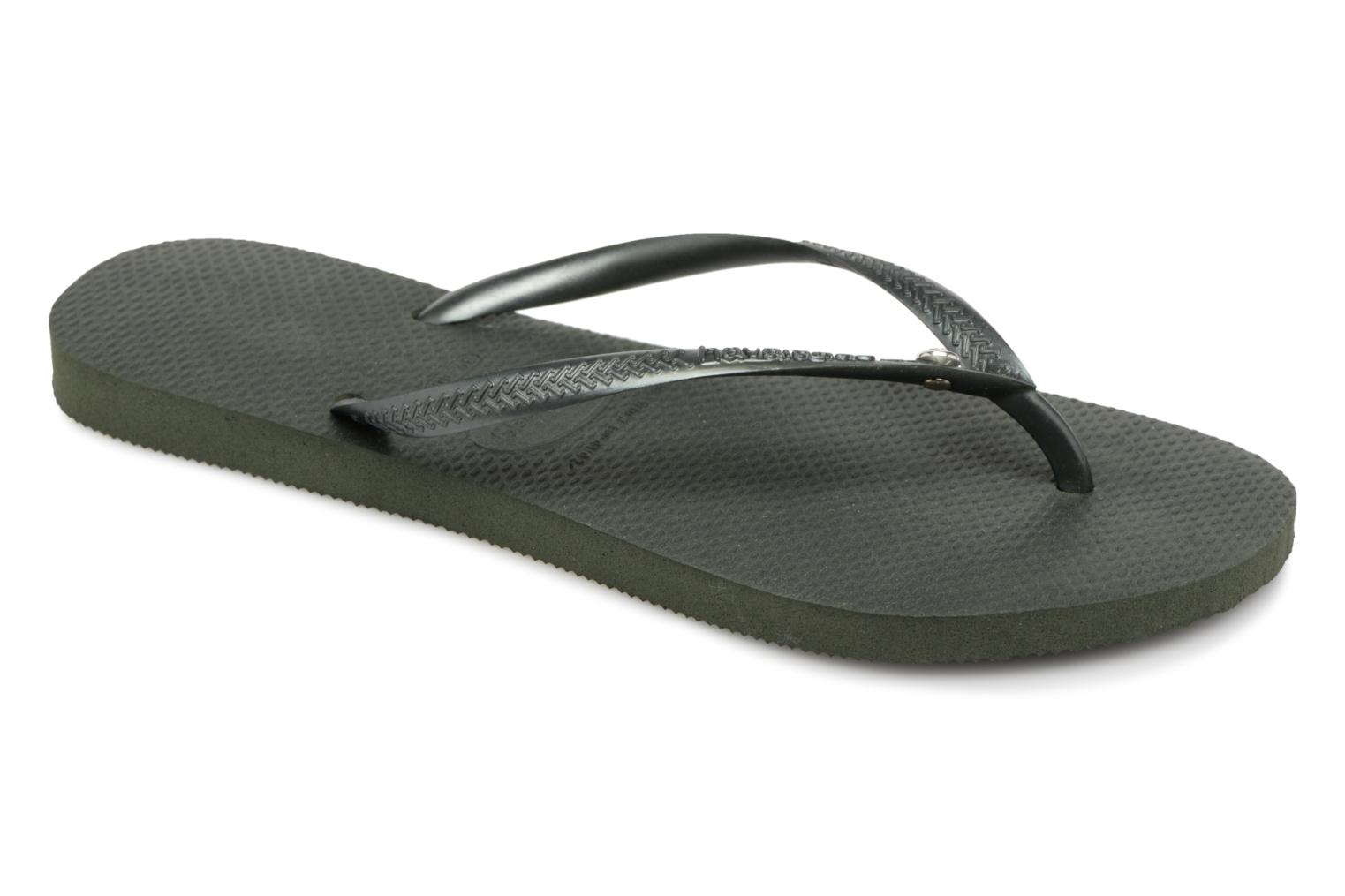 Havaianas SLIM GLAMOUR - Tongs - olive green