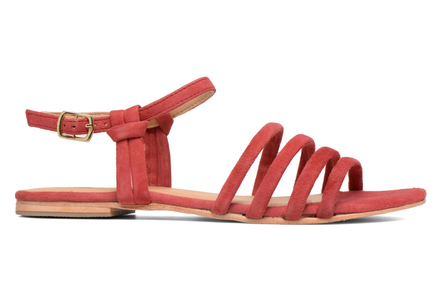 Marques Chaussure femme Made by SARENZA femme Bombay Babes Sandales Plates #5 cuir velours rouge
