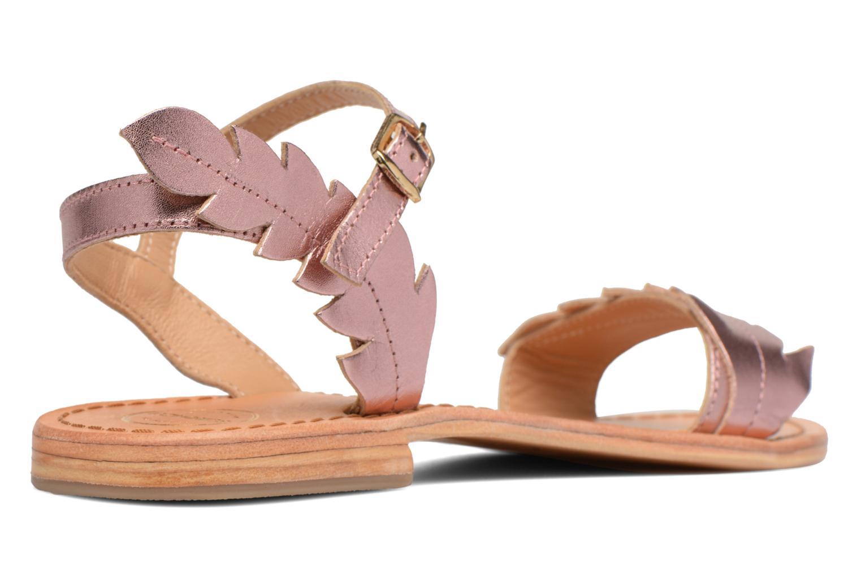 Sandales et nu-pieds Made by SARENZA Carioca Crew Sandales Plates #4 Rose vue face