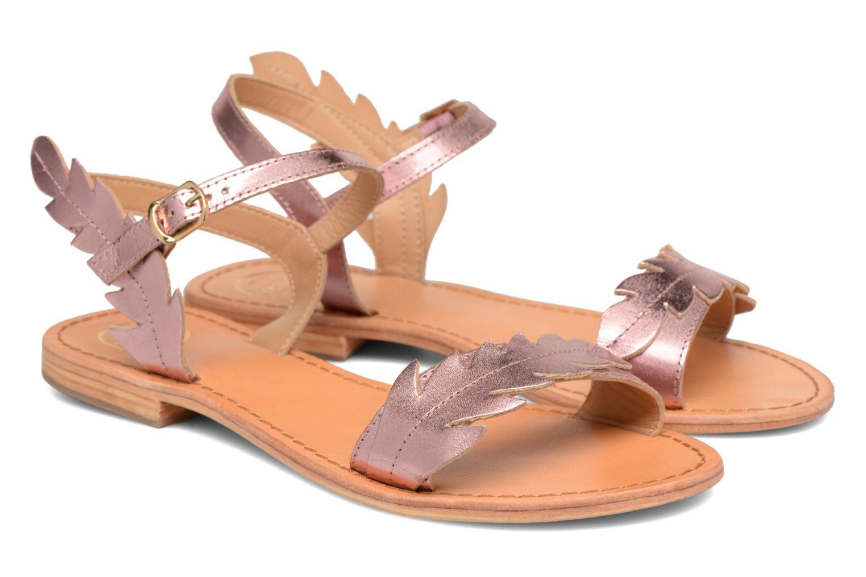 Sandales et nu-pieds Made by SARENZA Carioca Crew Sandales Plates #4 Rose vue derrière