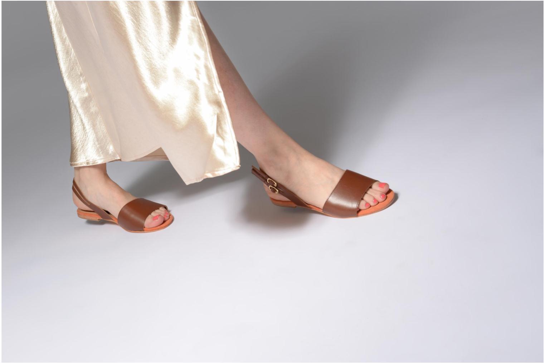 Sandales et nu-pieds Made by SARENZA Carioca Crew Sandales Plates #5 Marron vue bas / vue portée sac