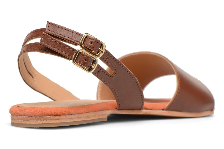 Sandales et nu-pieds Made by SARENZA Carioca Crew Sandales Plates #5 Marron vue face