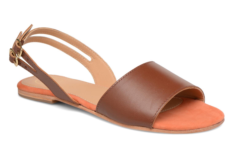 Sandales et nu-pieds Made by SARENZA Carioca Crew Sandales Plates #5 Marron vue droite