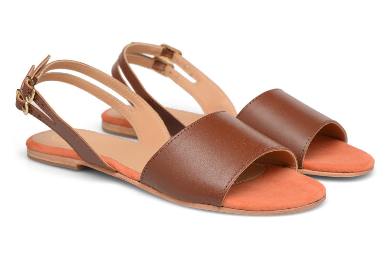 Sandales et nu-pieds Made by SARENZA Carioca Crew Sandales Plates #5 Marron vue derrière