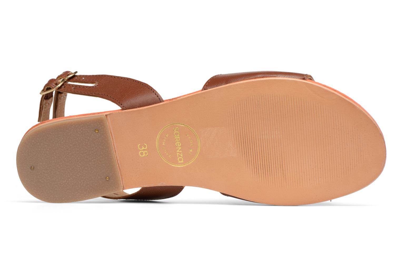 Sandales et nu-pieds Made by SARENZA Carioca Crew Sandales Plates #5 Marron vue haut