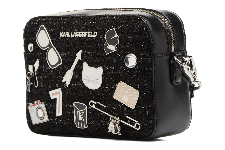 Sacs à main Karl Lagerfeld K Klassik Pins Camera Bag Noir vue portées chaussures