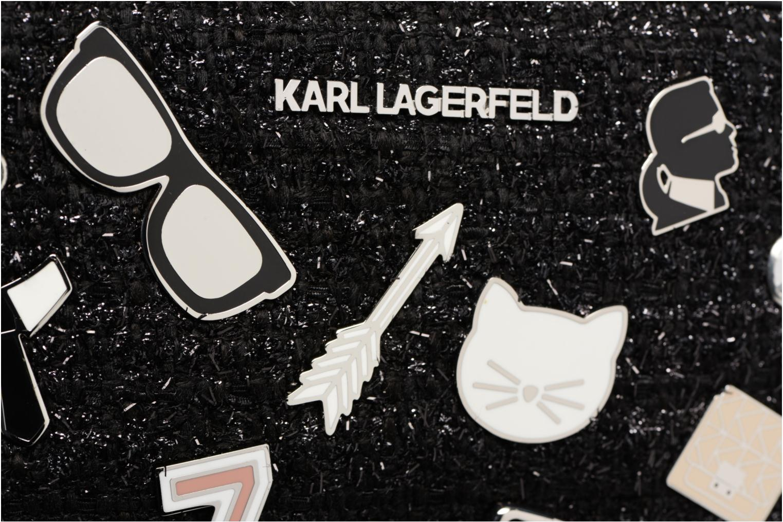 Sacs à main Karl Lagerfeld K Klassik Pins Camera Bag Noir vue gauche