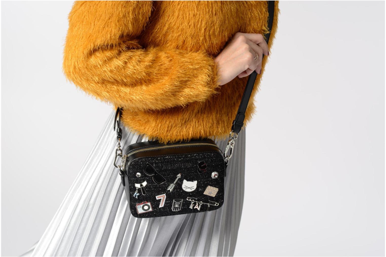 Sacs à main Karl Lagerfeld K Klassik Pins Camera Bag Noir vue haut
