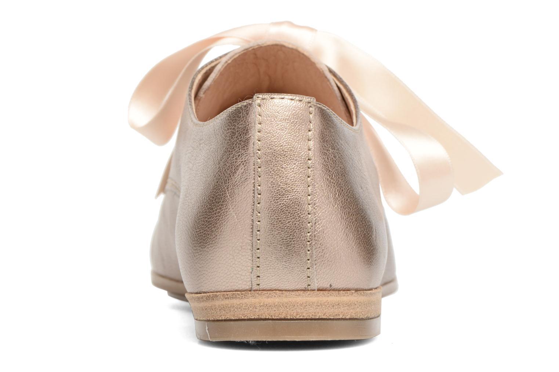 Chaussures à lacets Georgia Rose Astral Or et bronze vue droite